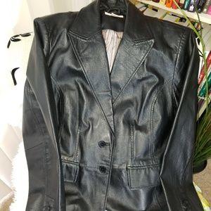Genuine Leather blazer style jacket size XL